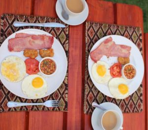 This is a great breakfast at Acorn Lodge-Potchefstroom